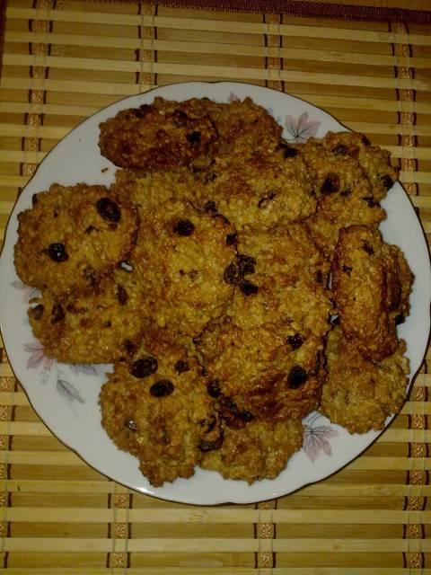 Легкое овсяное печенье