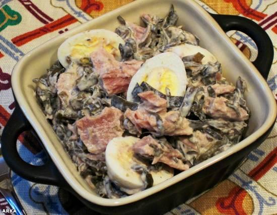 Салат из морской капусты с тунцом Салат из морской капусты с тунцом