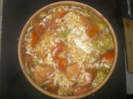Кабачки в томатах