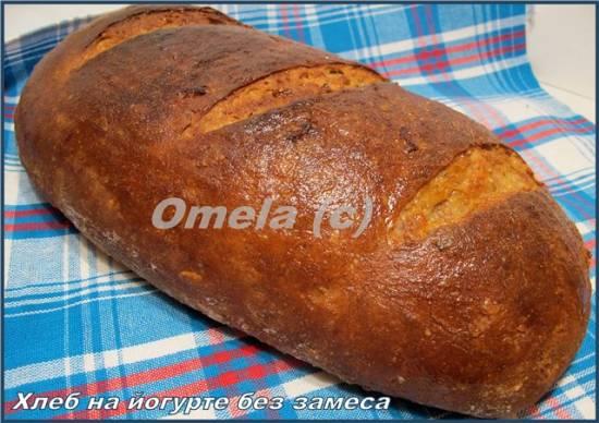 Хлеб на йогурте без замеса в духовке