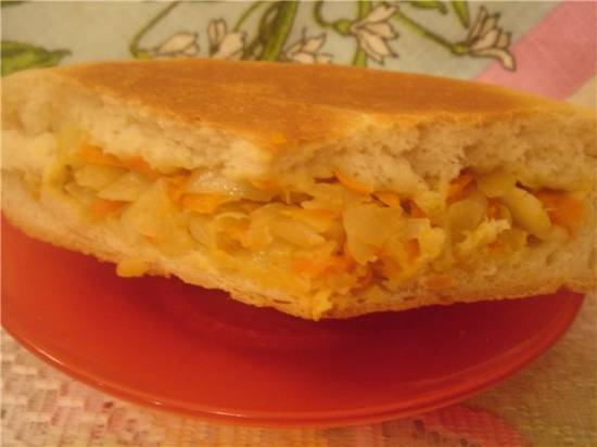 Пирожки с капустой мизуна и сыром Пирожок с капустой в мультиварке Brand