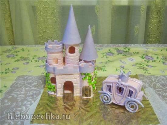 Замок и карета из мастики Замок и карета из мастики