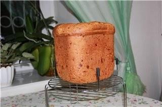 Хлеб пшеничный с тремя сырами по Дж.Шаптер (хлебопечка)