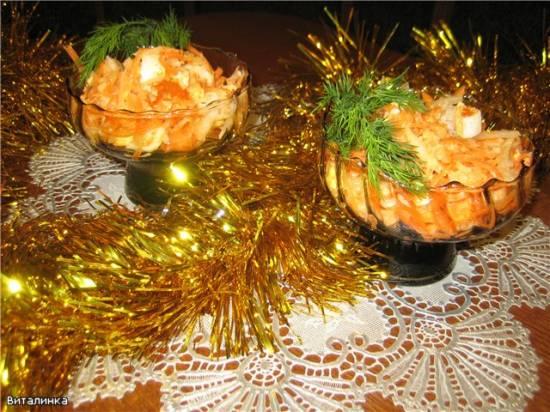 Японский новогодний салат с дайконом и морковью