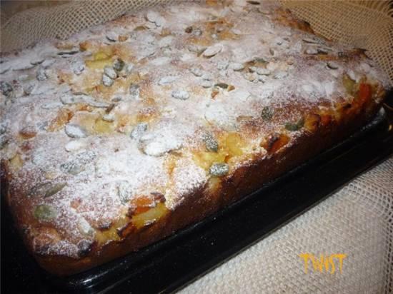 Миндальный пирог с яблочно-тыквенной начинкой