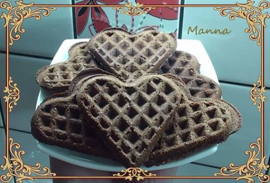 Манное шоколадное печенье в вафельнице