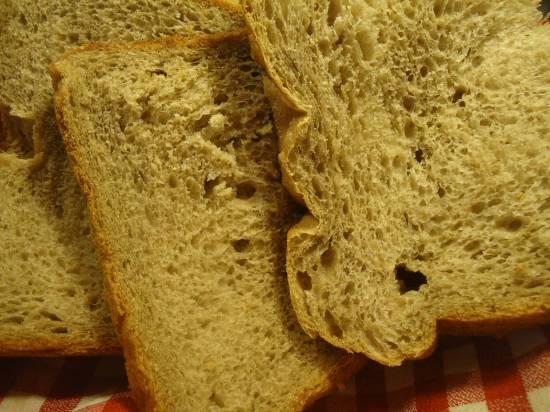 Пшеничный хлеб с льняной мукой и фруктовым пюре