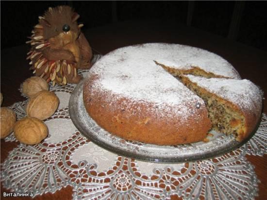 Ореховый пирог За 5 минут