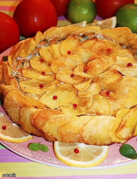 Итальянская картофельная шарлотка