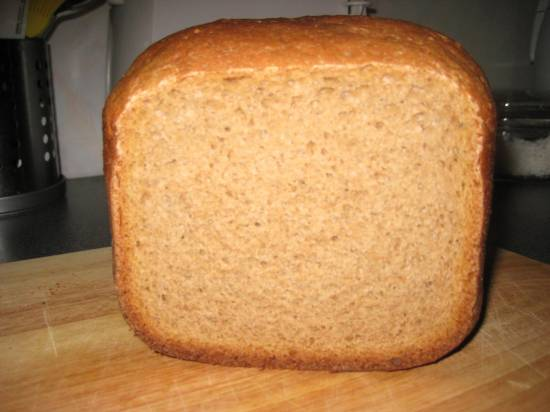 Ржано-пшеничный хлеб на закваске и пиве в хлебопечке