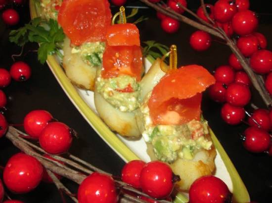 """Картофельные лодочки с гуакомоле  """"Алые паруса"""""""