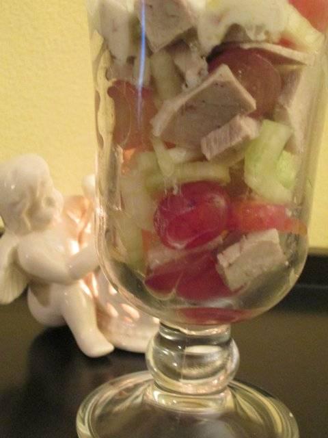 Салат из рождественской индейки