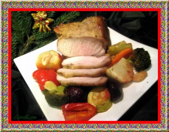 Рождественская запеченная свинина по-норвежски