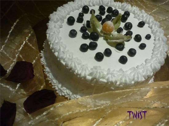 """Торт """"Богемский"""" лимонно-черничный"""