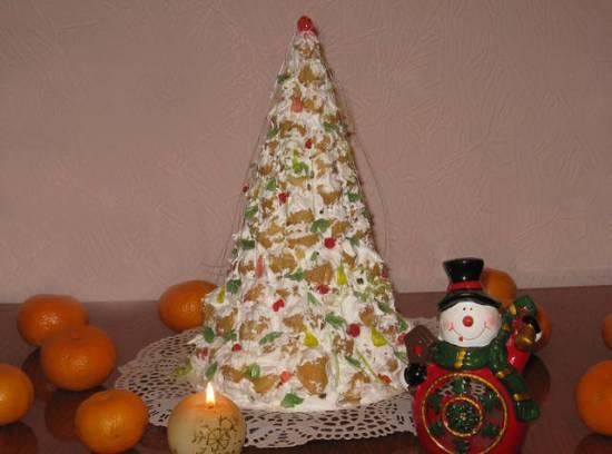 Торт крокембуш  Елочка в снегу
