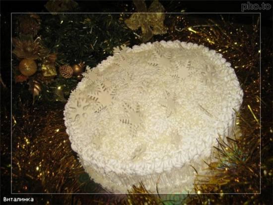 Торт Белый миндальный
