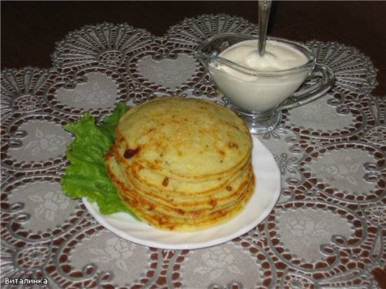 Блины картофельно-сырные