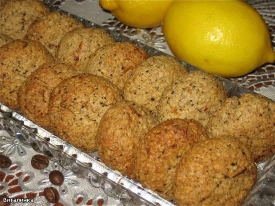 Печенье овсяное с кофе и лимонной цедрой