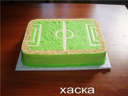 Торт Футбольное поле (мастер-класс)