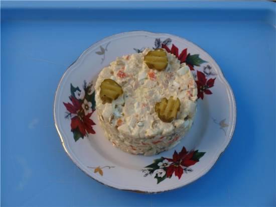 Классический чешский рождественский картофельный салат (Вramborovy; salat).