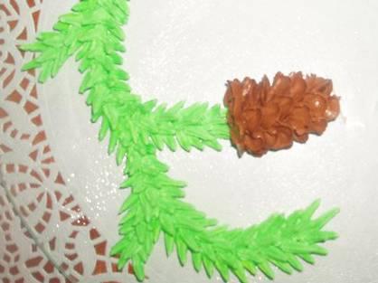 Еловые веточки с шишками из крема (мастер-класс) Еловые веточки с шишками из крема (мастер-класс)