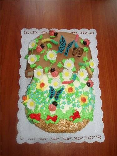 Торт Гриб боровик Мастер-класс