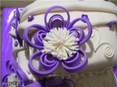 """Украшение для торта в стиле Квиллинг """"Цветок"""""""