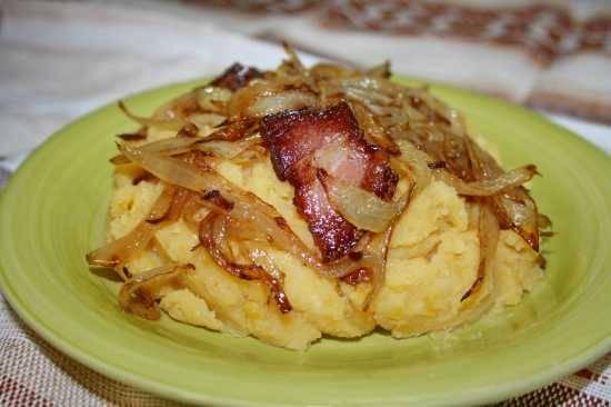 Пюре гороховое с картофелем и шкварками Пюре гороховое с картофелем и шкварками