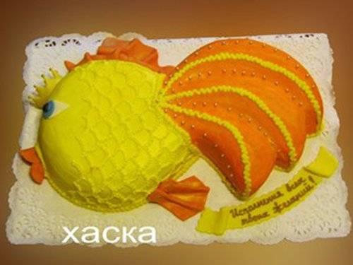 Торт своими руками в виде рыбы