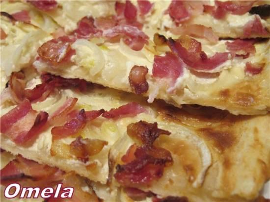 Тесто для пиццы бездрожжевое Фламмкухен из Эльзаса