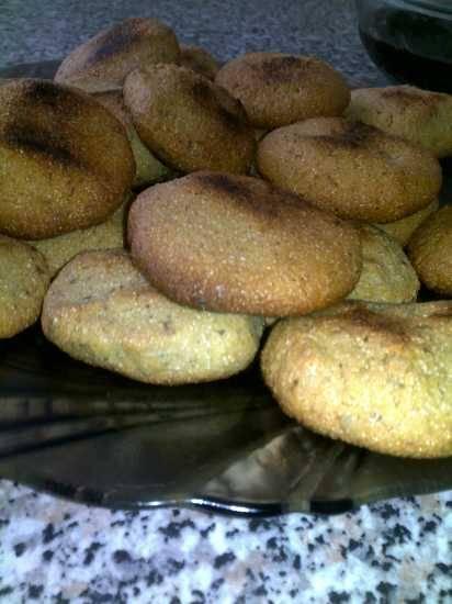 Кукурузное печенье с орехами
