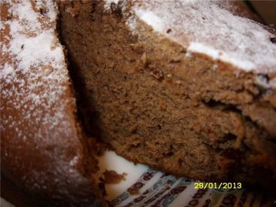 Пышный шоколадный тортик
