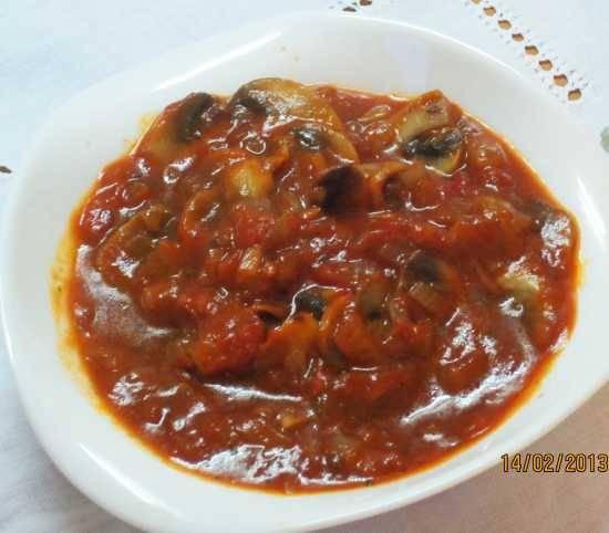 Томатно-грибной соус для спагетти