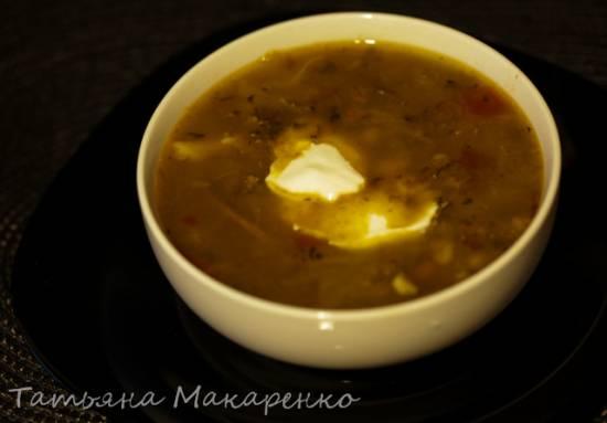 Суп с бобовой смесью (постный) в Oursson 4002