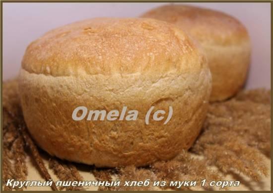 Хлеб молочный формовой из муки 1 сорта (в духовке)