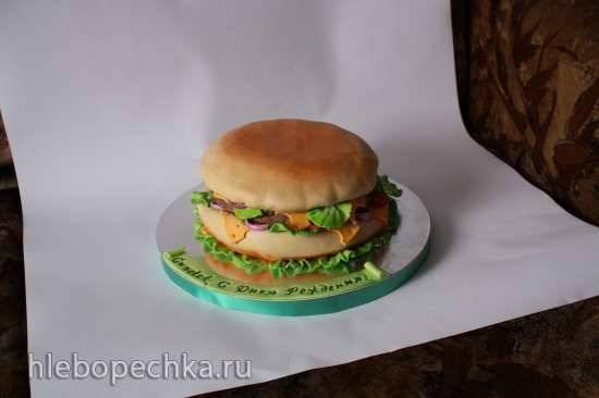 Торт «Гамбургер» (мастер-класс по сборке)