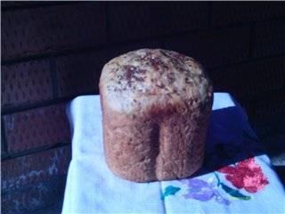 Хлеб с ячневой кашей