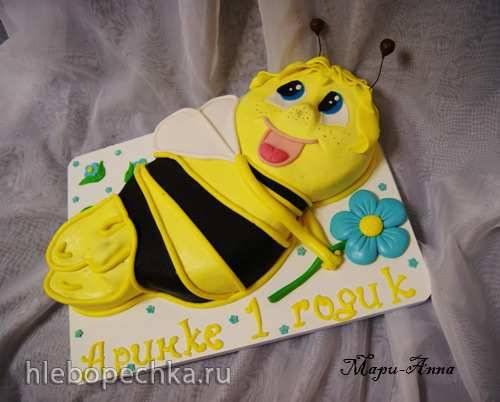 """Торт """"Пчела Майя"""" 2Д (мастер-класс)"""