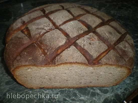 Пшенично-ржаной хлеб на закваске на каждый день