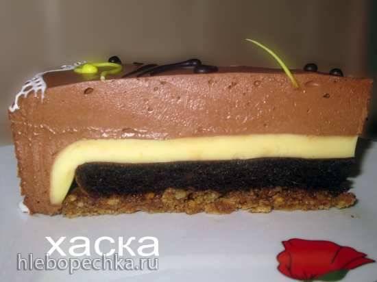 Торт шоколадный на постном тесте