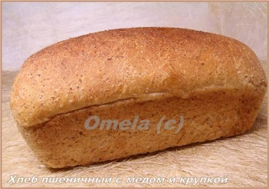 Хлеб пшеничный с медом и крупкой (в духовке)