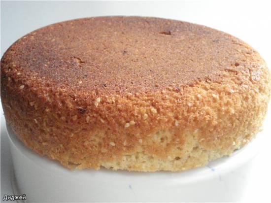 Пирог с кунжутом в мультиварке Panasonic