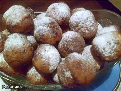 Пончики творожные с яйцами