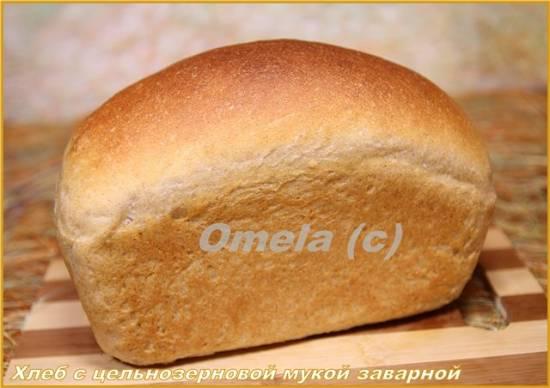 Хлеб с цельнозерновой мукой заварной (в духовке)