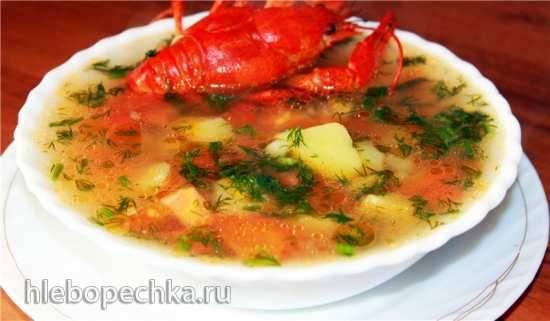 Картофельный суп с раками