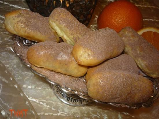 Заварные пирожные с шоколадно-апельсиновым кремом