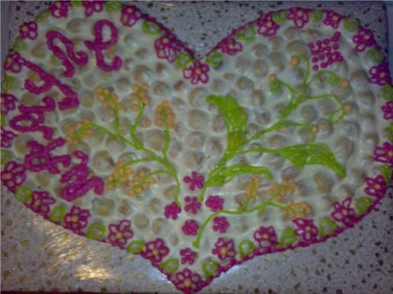 Торт Песочное сердце
