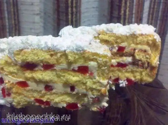 Желейные кубики в креме для прослойки торта