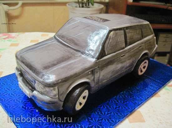 Торт Машина Range Rover (мастер-класс)