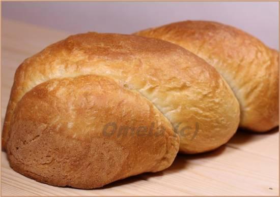 Ситный витой хлеб из муки 1сорта в духовке